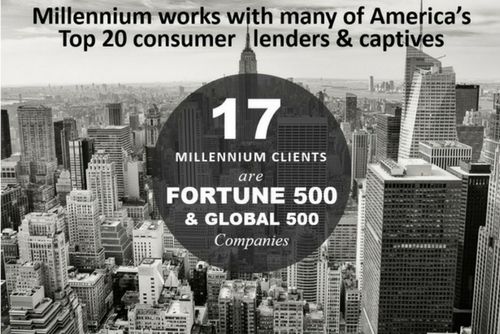 Millennium Capital and Recovery Corporation provides repossession management, skip tracing and impound services for Top 20 consumer lenders, banks, large subprimes and credit unions